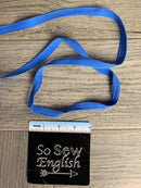 "AZURE-1/2"" Twill Tape -Sold by the yard"