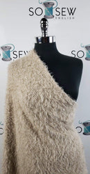 "Dark Beige ""Mohair"" -Sweater Knit- By The Yard"