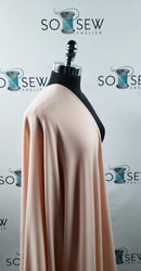 Solid Blush - Poly Rayon Spandex French Terry - By the yard