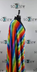 Rainbow - Faux Fur - By The Yard