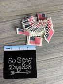"Flag Tags ""Made in the USA"" -TAGS- Packet of 20"