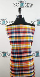 Red/Mustard Plaid - Flannel Woven - By The Yard