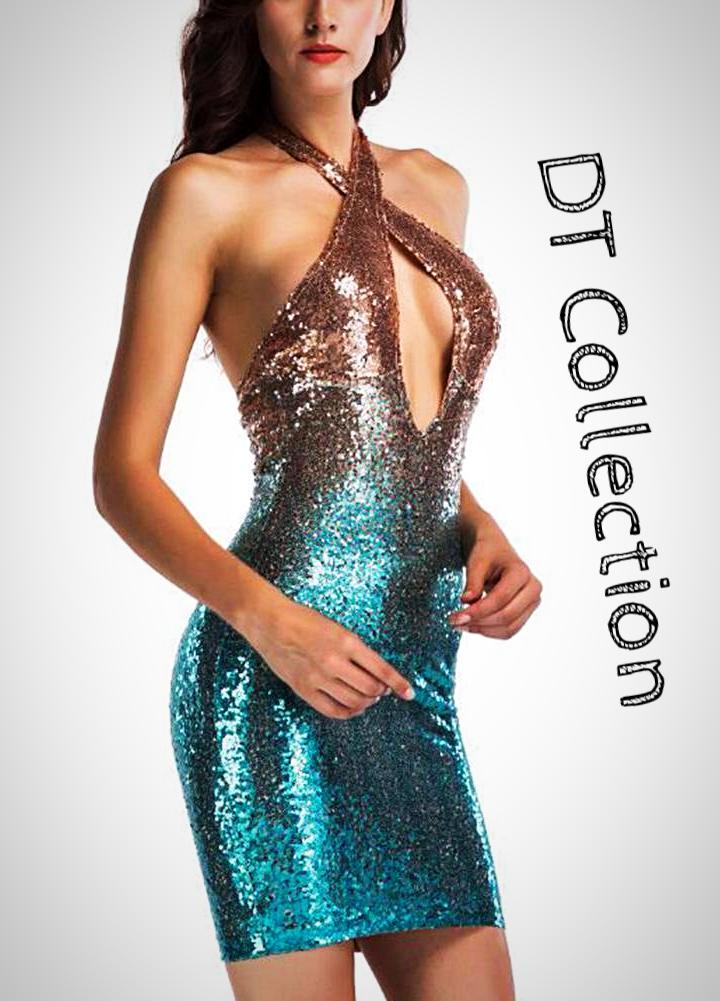 Women's Cocktail Party Sequins Dress