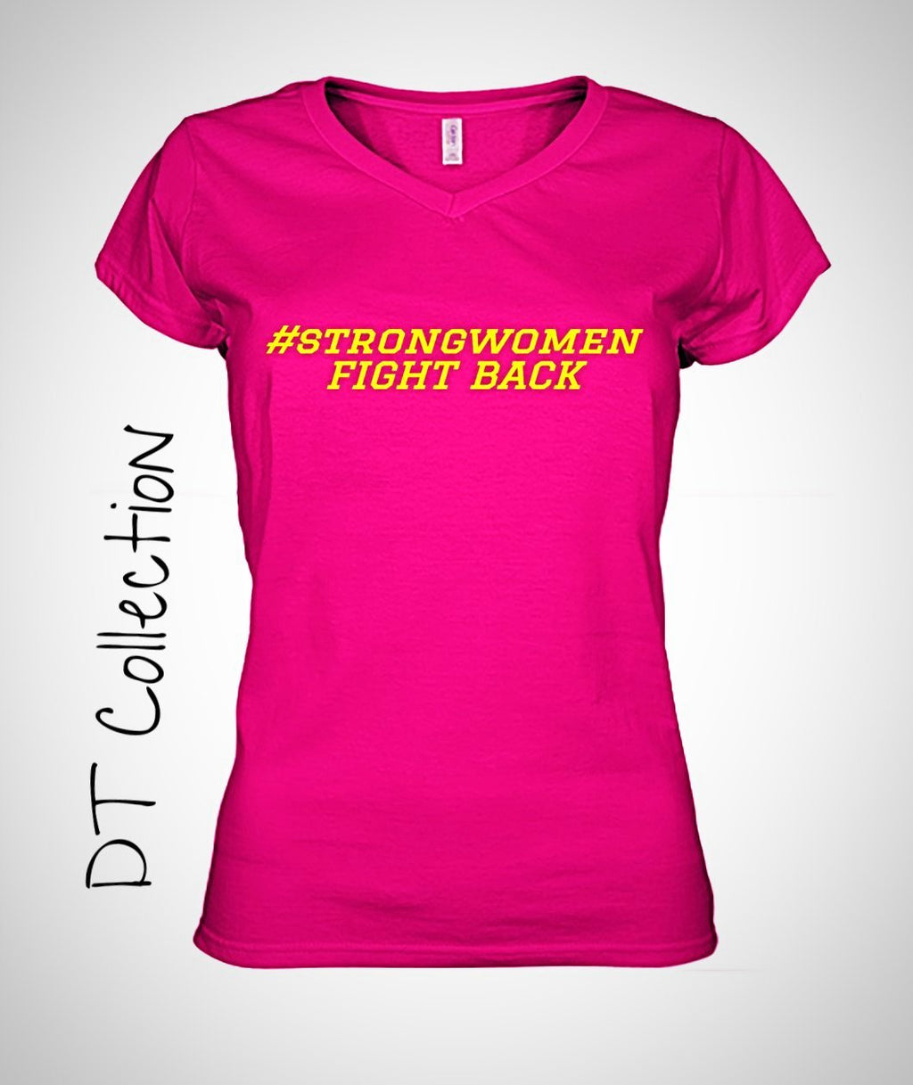 #strongwomen FIGHT BACK Women's V-Neck