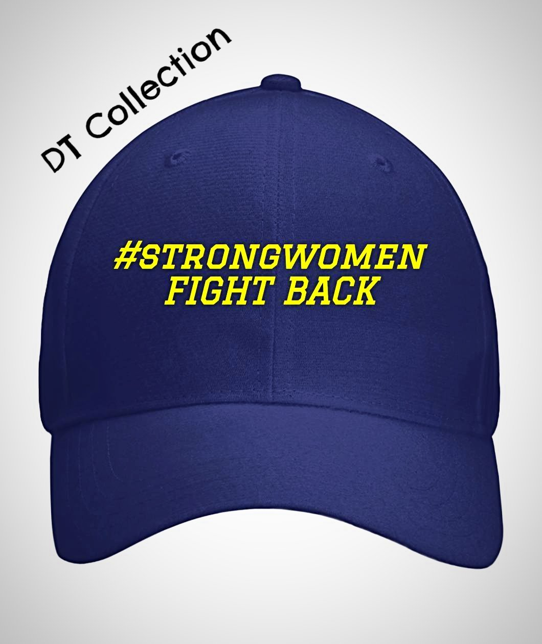#strongwomen FIGHT BACK Curved Bill Velcro Strap