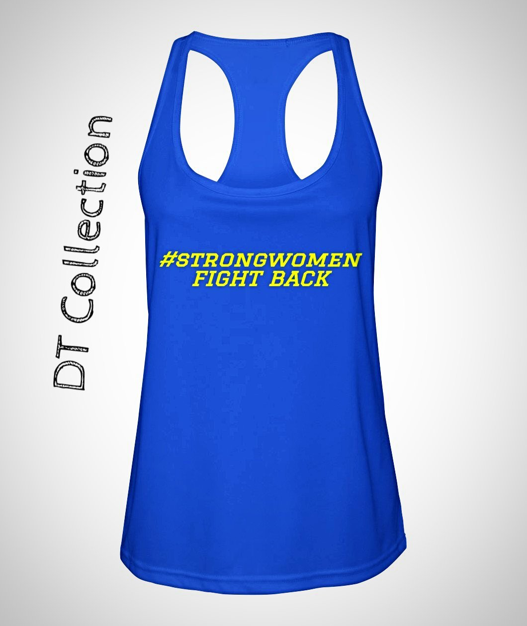 #strongwomen FIGHT BACK Women's Racerback Sport Tank