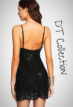 Sleeveless Sequin Mesh Dress