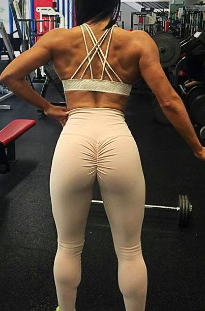Sexy Yoga Leggings Elastic Lined Back