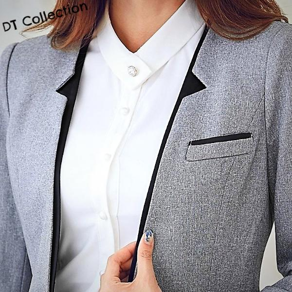 DT Collection Women's 2 pcs Suit Set Jacket + Pants or Skirt Office Wear. Your choice of Pants suit or Skirt suit. Ladies we aim to make you look professional and elegant with that modest beautiful.
