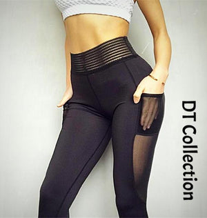 High Waist Sports Leggings with Side Pocket