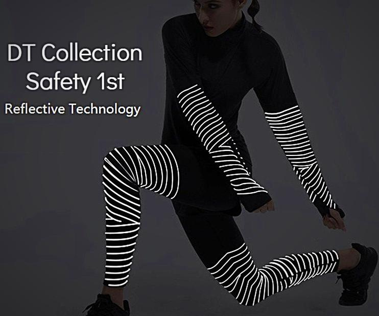 Women's Shirt and Leggings Reflective Running Fitness Suit 2 pcs