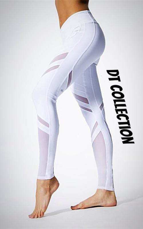 Fitness Yoga Pants Mesh Elastic