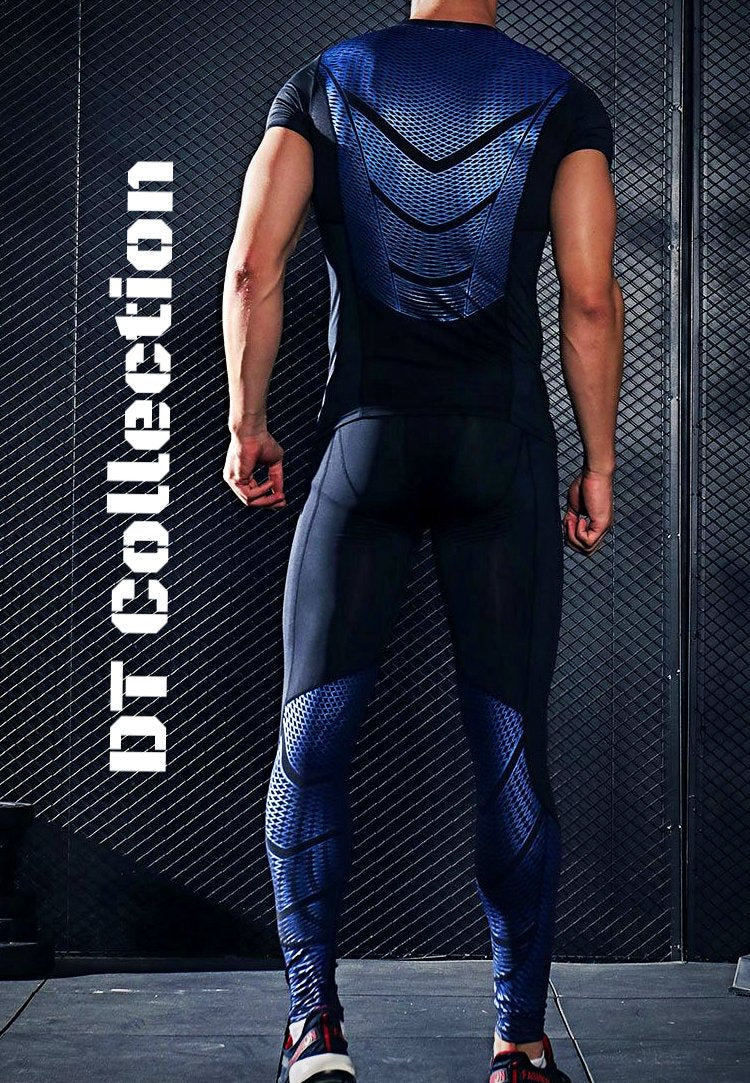 Men's Long Sleeve T-shirt Compression Set