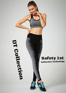 Quick Dry Reflective Night Running High Waist Leggings