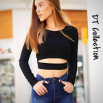 Slim Long Sleeve Crop Top
