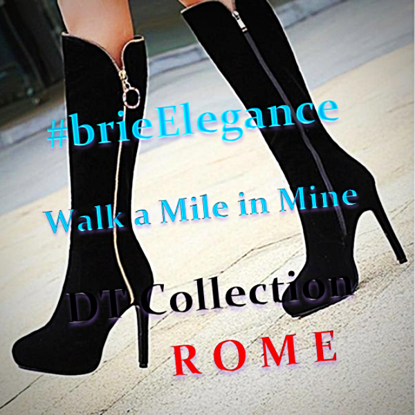 #brieElegance Knee High Heel Boots Zippered | DT Collection