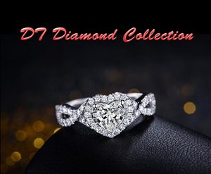 Certified 1.54 ct I-J/SI Diamond 18K White Gold | DT Collection