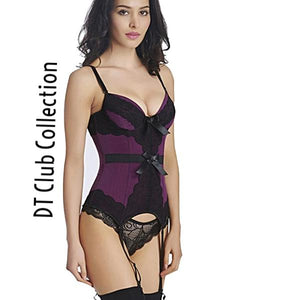 DT Collection Sexy Lace Mesh Push Up Corset Lingerie. Spaghetti strap mesh handmade with lace. Playtime ladies! Time to turn up the heat this summer...