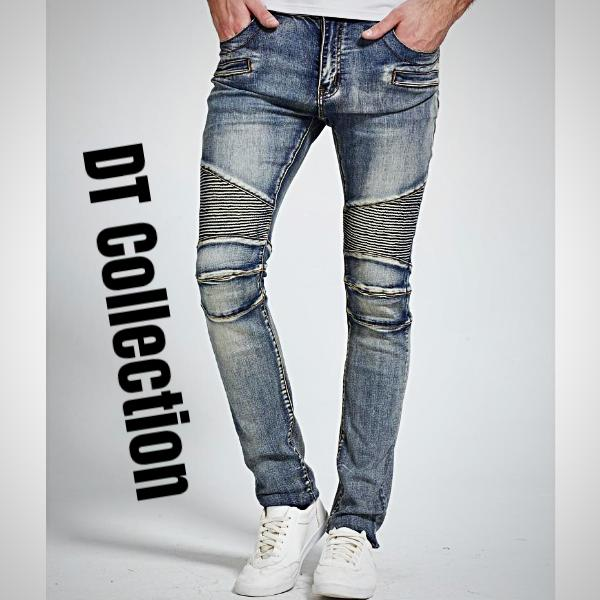 DT Collection Men's Denim Skinny Stretchy Pencil Jeans. Man Behind the Music.