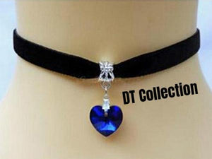 DT Collection Velvet Heart Choker Necklace Montreal