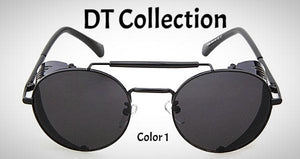 DT Collection Unisex Retro Goggles Sunglasses. Round UV400 awesome style for summer. Bring that vintage look back.