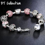 LOVE FOREVER Charm Bracelet DIY Original Beads