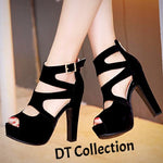 DT Collection High Heel Pumps Sandals Straps