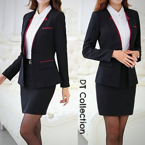 purchase authentic fast color hot-selling official Women's 2 pcs Suit Set Jacket + Pants or Skirt Office Wear
