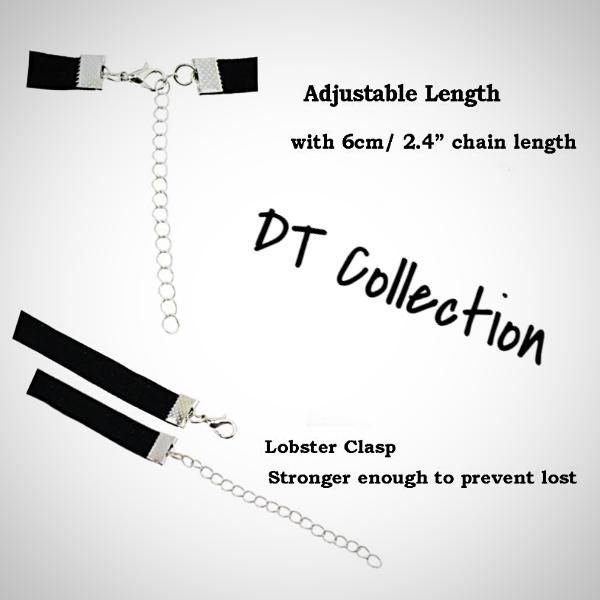 DT Collection Velvet Lace Choker Necklace Set 30 pcs. Stretch velvet and lace decorated with 30 unique designs. Enjoy a different look and style to all your outfits.