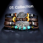 DT Collection Vintage Unisex Leather Bracelets Multi Layered. Express yourself with each unique piece. These are 3 layered with multiple designs. Show your personality!