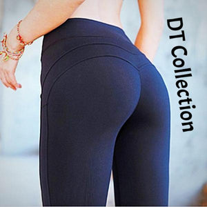 DT Collection Women's Yoga Fitness Compression Leggings