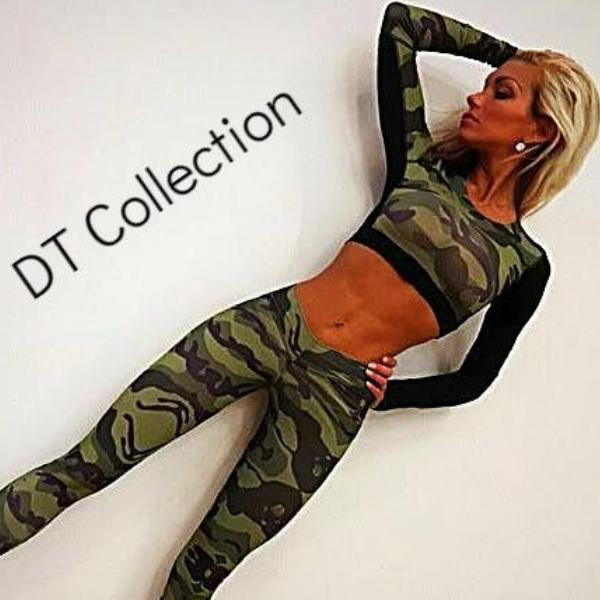 Camo Yoga Set Fitness Gym Running Workout | DT Collection