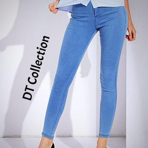 DT Collection Women's Skinny Jeans Stretchy High Waist Pencil Pants. Very soft cotton for that extra comfort. Solid color for that simplicity when you need it!