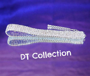 DT Collection Rhinestone Choker Necklace 5 Rows Stretch Prom Wedding. Perfect for that added elegance to you outfit. Sparkle and standout at any party!