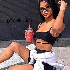 DT Collection Sexy Crop Top + Shorts Set