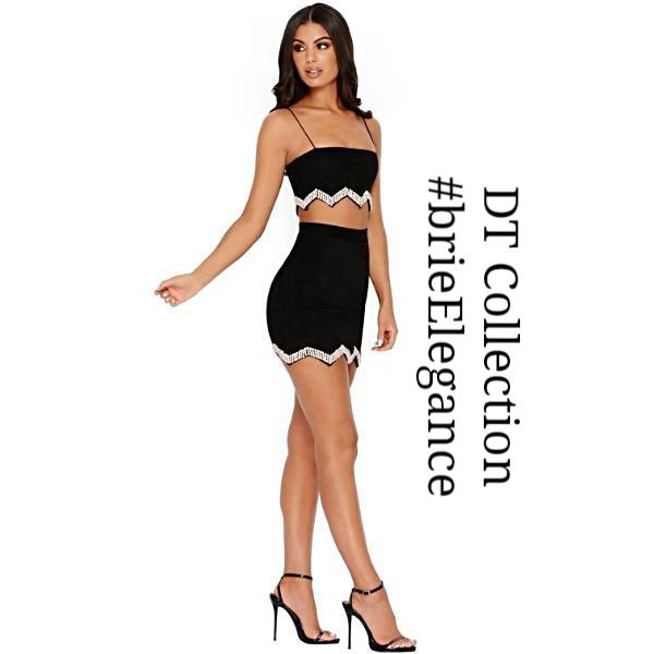 #brieElegance Mini Skirt + Crop Top B$C | DT Collection