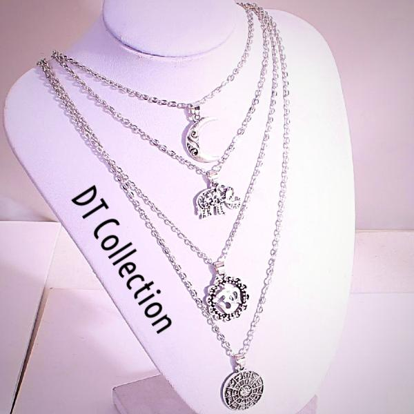 DT Collection Vintage Multi-layered Necklace 4 in 1