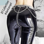 DARK LOVE Leather Leggings Back Zippered #darkangel | DT Collection