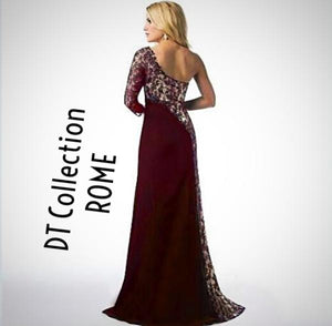 DT Collection DARK LOVE Long Slim Gothic Dress ROME