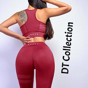 DT Collection 2 pcs Fitness Set Crop Top + Leggings