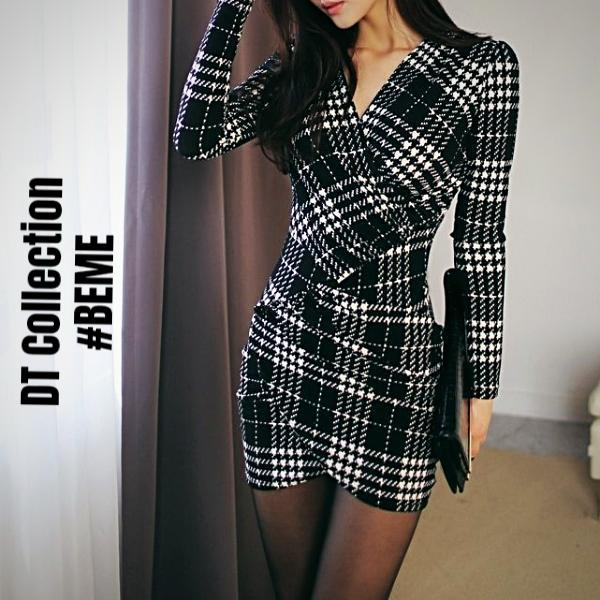 #BEME Autumn Plaid Dress PARIS