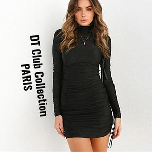 DT Collection DARK LOVE Mini Black Dress Long Sleeve FALL/WINTER