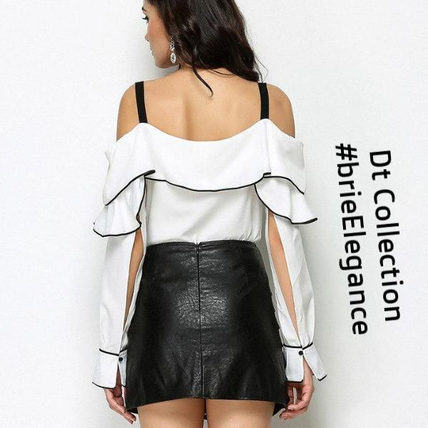 #brieElegance Off Shoulder Top Spaghetti Strap | DT Collection