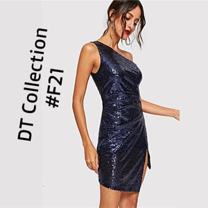 #brieElegance Winter Blue Cocktail Dress #F21 | DT Collection