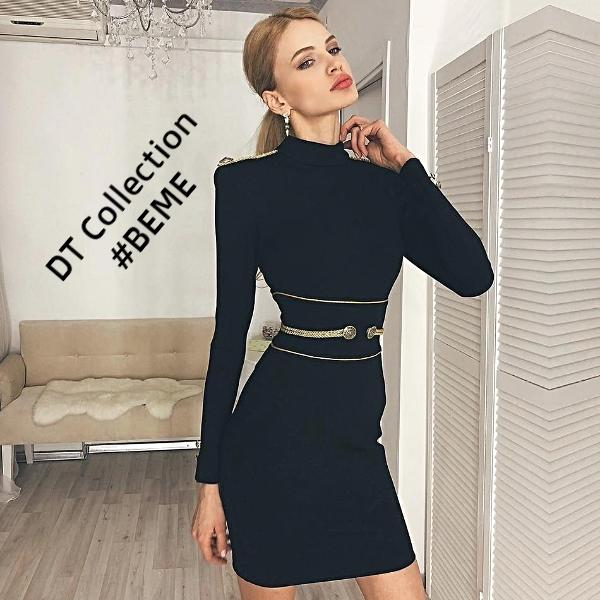 #BEME Autumn Black Mini Dress PARIS | DT Collection