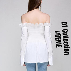 #BEME Pleated Off Shoulder Top B$C | DT Collection