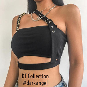 DARK LOVE Punk Crop Top #darkangel | DT Collection