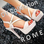 DT Collection ROME Open Toe Stiletto Heels Gladiator