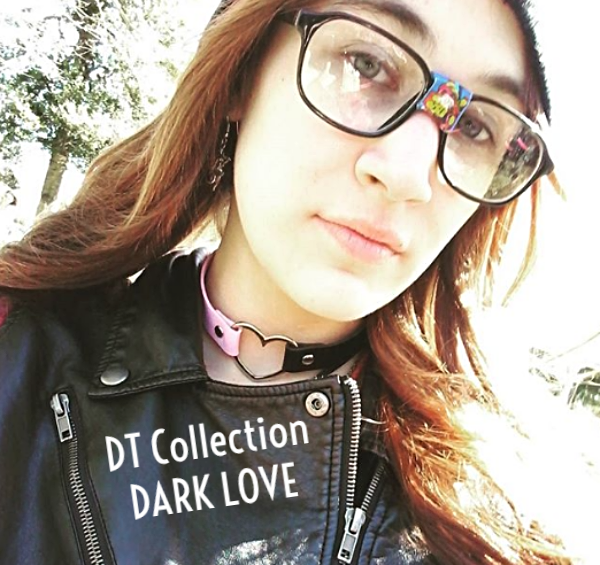 DT Collection DARK LOVE therealdawnchu Leather Choker Necklace Heart