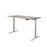 A3-52 Ergonomic 52-in 3 Memory Buttons LED Electric Automatic Height Adjustable Sit to Stand Work Office Desk with White Legs